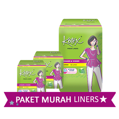 [Paket Murah] Kotex Liners total 48 pcs Deals for only Rp28.100 instead of Rp28.100