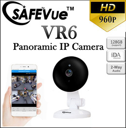 SAFEVue Wireless HD Smart 180° IP Camera VR6 | Night Vision