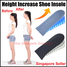 ★Height Increase Shoe Insole★ Silicone Gel Insert Pad Men Women SG Seller