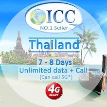 ◆ICC◆【Thailand SIM Card· 7-8 Days】Truemove/AIS/DTAC❤Bangkok/Chiang Mai/❤ Unlimited Data+Call
