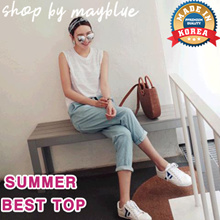 [Mayblue] ★ Free shipping ♥ Daily Basic Tank Top / Change Line Sleeveless Tops