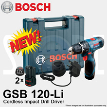 Bosch GSB 120-Li Professional Cordless 12V Impact Drill for drilling wall wood steel