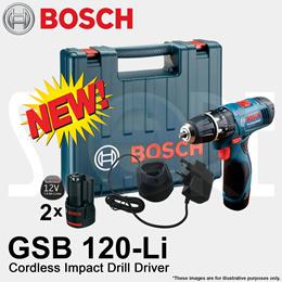 Bosch GSB 120-Li Professional Cordless 12V Impact Drill for drilling wall wood steel