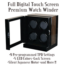 Japan Mechanism Quality High End Fully Digital Touch Screen Watch Winder With Multiple Timer Mode