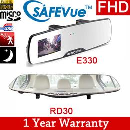 [SAFEVue] Rear View Mirror E330 RD30 1080P FullHD Car Camera HD  LOCAL WARRANTY