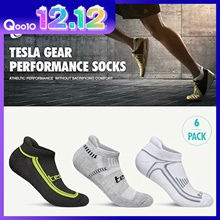 Tesla Sports Socks / 6 Pairs In 1 Pack / Performance sports socks / Hiking / Running / Gym / Fitness