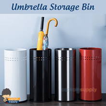 ★ Stainless Steel Umbrella Storage Bin ★ Stand Holder Basket Box Organiser Organizer Large Capacity