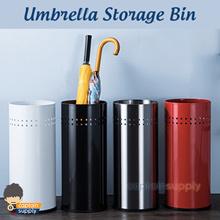 ★ Stainless Steel Umbrella Storage Bin ★ Stand Holder Basket Box Organiser Organizer Large Capacity