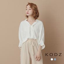 KODZ - V-neck Hi-Long Blouse-181506-Winter