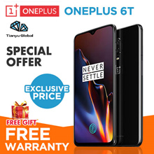 【Local Warranty】OnePlus 6T Mobile Phone | Brand new and sealed set | 128GB | 256GB ROM