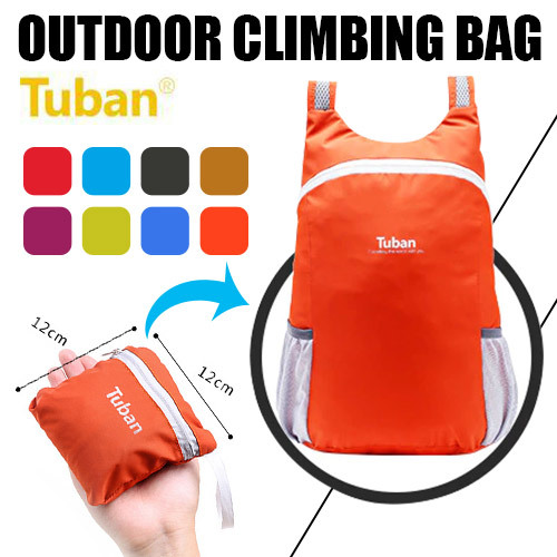Buy Tuban Outdoor Sport bag Climbing bag Foldable Waterproof travel bag Hiking backpacks Ultralight Spor Deals for only S$19 instead of S$0