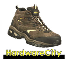 Skechers Mens Work Energy - Clan WP 76987-BRN Mid Cut Lace Safety Shoes Trekking Boots