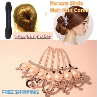 Korean Style Hair Bun Comb Clip Accessories