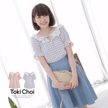 TOKICHOI - Crochet Grid Blouse-6010524