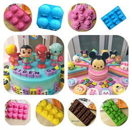 ***FreeShipping***DIY Silicone Baking Mold/Chocolate/Jelly/Ice/Cartoons/Flowers/HelloKitty