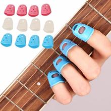 Yuker 4Pcs Fingertip Protector Fingerstall Silicone Guitar String Finger Guard Hand Against the Pres