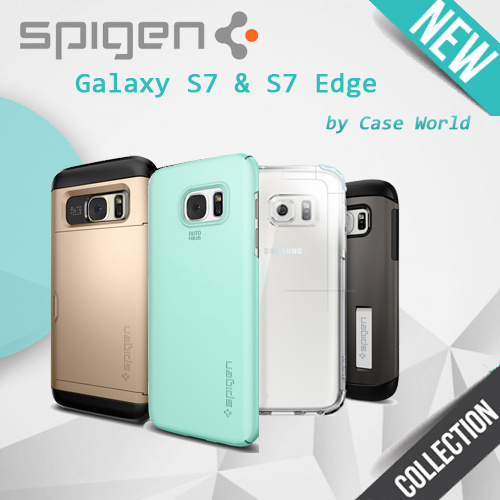 [SPIGEN] Original Spigen Case / Cover Collection - for SAMSUNG Galaxy S7 . Galaxy S7 Edge ? Liquid Crystal . Neo Hybrid Crystal . Crystal Shield .