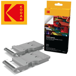 Kodak Mini Photo Printer Cartridge PMC – All-in-One Paper  Color Ink Cartridge Refill 20 Pack New