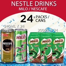 Nestle Milo Packet/Can + Nescafe Can Assorted + Ribena Packet/Can/Cheerpack + Ovaltine (Long Expiry)