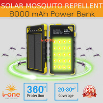 Mosquito Repellent Power Bank Portable Charger Solar Light 8000 mah