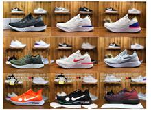 Nike mens shoes womens shoes Rhea NIKE EPIC RECAT FLYKNIT rainbow running shoes