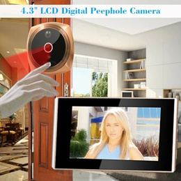 4.3 LCD Screen Doorbell☆Digital Door Peephole Viewer Camera Doorbell/HD Night Vision Video Doorbell