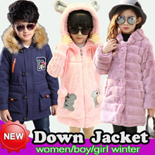 Girl Boy Women Winter Down Cotton Jacket/ Coat/Thick Warm Children Jumpers Winter Clothes Clothing