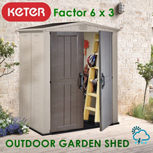 [KETER] Factor 6 x 3 Outdoor Garden Shed | WATERPROOF | WEATHER RESISTANT | FREE DELIVERY ASSEMBLY