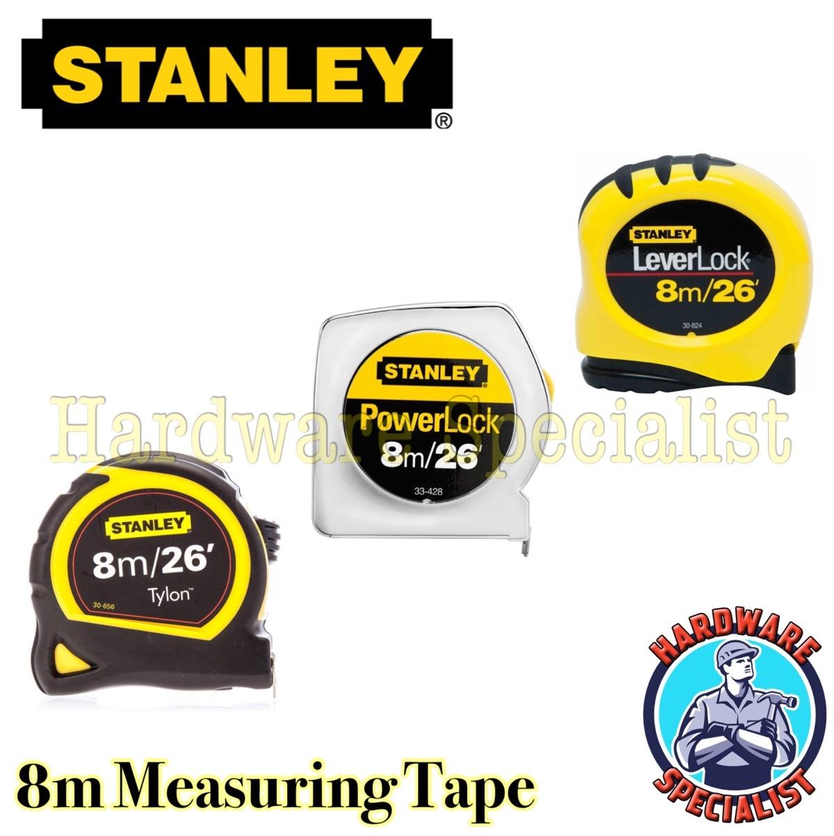 Qoo10 Stanley Heavy Duty 8m Distance Measuring Tapetylon Tape Basic 5m 16 Actual Size