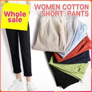 Korean Harajuku Women Loose Volume Cotton Short Sleeve Black Pants