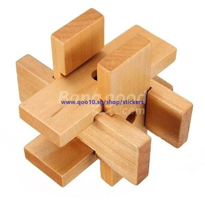 Six Hard Lock YX817 Wooden Puzzle Brain Teaser Toy