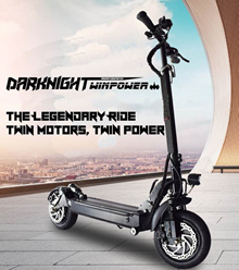 MOST POWERFUL ELECTRIC SCOOTER HAVE ARRIVED DARKNIGHT TWIN POWER Escooter