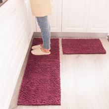 Kitchen floor mat Long carpet anti-skid suction water home bedroom foot mat balcony door cushion pur