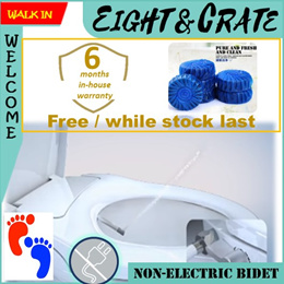 🚽🇸🇬 Toilet bidet Seat 🚽 Seat cover with front and rear wash non-electric bidet