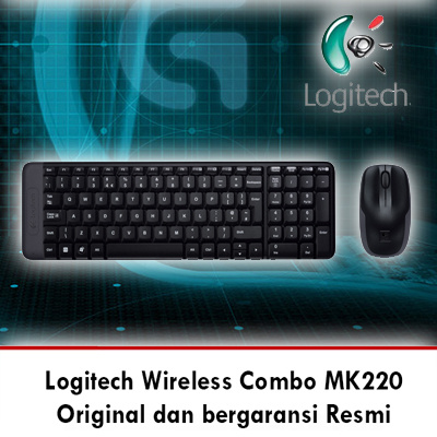 Logitech Combo MK220 Wireless Keyboard Deals for only Rp250.000 instead of Rp250.000