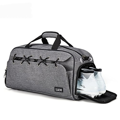 dccd05dc7cf8 Kuston Sports Gym Bag Travel Duffel with Shoes Compartment for MenWomen