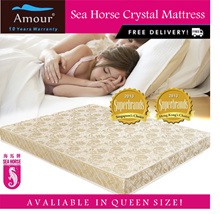 SEA HORSE BRAND CRYSTAL FOAM MATTRESS 6 INCH Queen Size