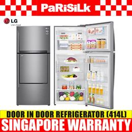 LG GT-D4117PZ Top Freezer Refrigerator Door in Door (414L) - Singapore Warranty