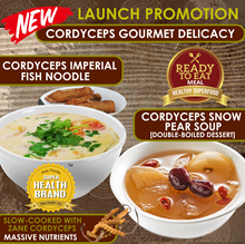 [NEW] 1+1 Healthy Cordyceps Imperial Fish Noodle / Cordyceps Snow Pear Soup [Double-boiled Dessert]