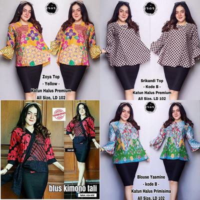 Qoo10 Special Price Free Delivery Atasan Batik Blouse Kimono