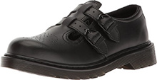 Dr. Martens Girl s 8065 Fashion Mary Janes, Black, Leather, 4 Big Kid M UK, 5 M US