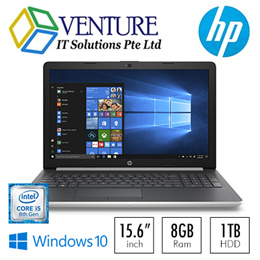 HP Notebook 15-da1028tx / Intel® Core™ i5-8265U / Windows 10 Home 64 / 15.6 Inch / 8 GB RAM / 1TB HDD / NVIDIA® GeForce® MX110. Local Stocks and Warranty!