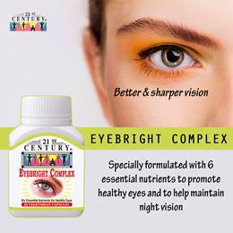 [21st Century] Eyebright Complex (30 capsules) for better Eye Health