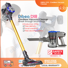 📣📣 [NEW ARRIVAL] Dibea D18 Cordless Vacuum Cleaner Handheld Stick LED Light