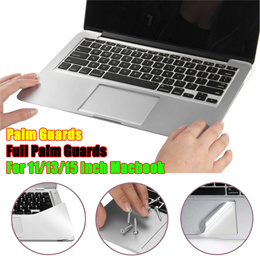 [For 11/13/15 inch macbook air/pro retina laptop] Silver Hard Luxury Palm Guards Trackpad Full Keyboard Protector Anti-scratch Waterproof Metalic Touch Feeling