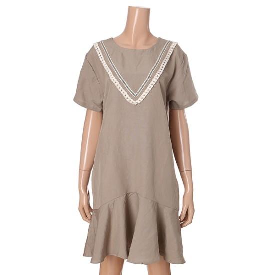 オチョクセイルロテスルフリルのワンピース71553134 面ワンピース/ 韓国ファッション