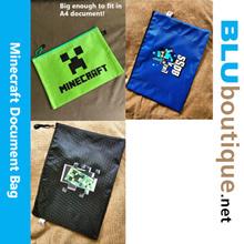 Minecraft  A4 size Document Bag - 24 x 33 cm