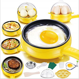ZYFWBDZ Home & Kitchen Steamer Multi-Function Household Mini Egg Omelette Pancakes Electric Fried St