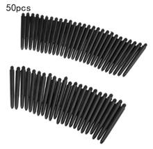 Black 50pcs/lot Nylon Dart Shafts 2BA 48mm Screw Thread Plastic Darts Rod Stems Darts Accessories fo