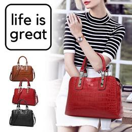 Elegant Ladies Women Crocodile Pattern Hand Bag Handbag Shoulder Bag   HB004 9eeae29e74